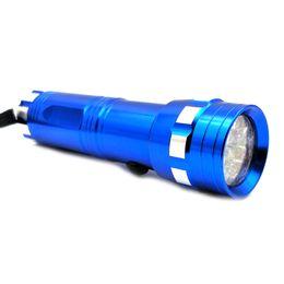 ascensore aria auto Sconti Gzhengtong 1pcs 14 LED Purple Light Automotive Aria condizionata Rilevatore di perdite Torcia Test di tenuta Torcia elettrica / Torcia elettrica blu