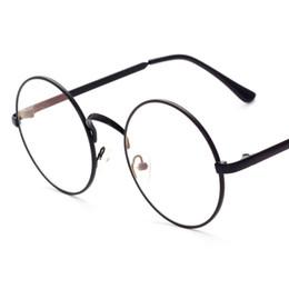 papillons encadrés pas cher Promotion lunettes nerd rond lentille unisexe or monture ronde en métal monture de lunettes optique hommes femmes noir 330019