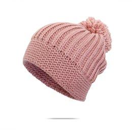 Wholesale Korean Cute Winter Hats - Universal ladies warm winter hat Korean thickening plus cashmere hat and knitted bat simple wild cute