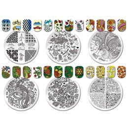 Wholesale Laced Nail Stamp Designs - 1pc 31 Designs Available Born Pretty Stamping Plate Lace Starfish & Shell Negative Space Leaves Flowers Animals Nail Template