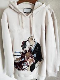 Wholesale lady brand cotton sweatshirts - 2018 luxury italy High quality brand ladies Pearl embroidery long sleeve women tops sweatshirt