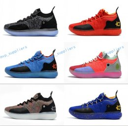 27846b67d6cc kd easter basketball shoes Coupons - 2018 New Kid Women Youth KD XI 11 EP  Oreo