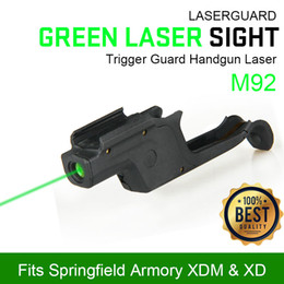 Wholesale Airsoft Lasers - New Arrival Tactical Airsoft Laser Pointer Green Laser Sight for M92 for Outdoor Free Shipping CL20-0040