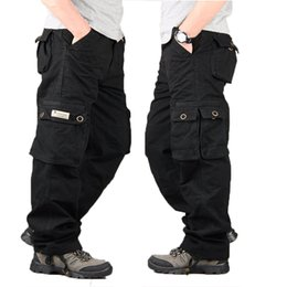 049b2d181a mens yellow cargo pants Promo Codes - Cargo Pants Style Tactical Pants Mens  Baggy Trousers Army