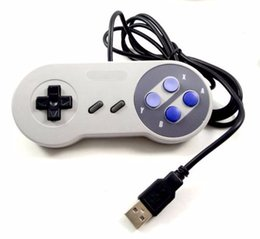 Wholesale Wireless Snes - Classic USB PC Controller Gamepad Joypad Joystick Replacement for Super Nintendo SF for SNES NES Mac Tablet PC xv10 50pcs lot