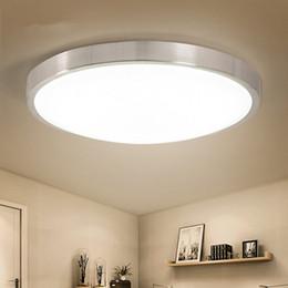 Wholesale Modern Flush Ceiling Lights - Modern LED Ceiling Lights Round Light Fixtures For kitchen Living Room Corridor Indoor Lighting Flush Mount Ceiling Lamp