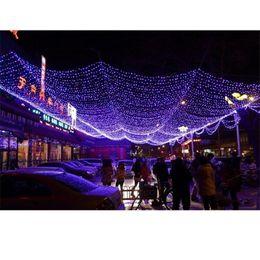 Rede ao ar livre luzes azul on-line-2 Tamanho Festival Luzes Led Ao Ar Livre Quente Branco Azul Multicolor Gramado Luzes De Rede De Pesca Festival de Natal Festa de Casamento Decoração