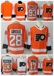 Erkekler Buz Hokeyi Philadelphia Formalar 53 Gostisbehere 17 Simmonds 28 Claude Giroux 93 Voracek Hokeyi Dikişli forması En İyi Kalite Mix Sipariş nereden