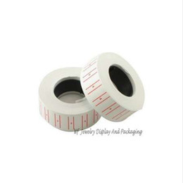Wholesale retail pricing labels - Retail One Roll Paper Coloredl Adhesive Price Sticker Price Label Refill for MX-5500 Price Tag Gun Lableller