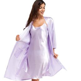 2017 Two Set Satin Bride Bridesmaids Robe Sexy Lingerie Women Silk Wedding  Party Kimono Robes Nightgown Sleepwear Pajamas mujer 1c462fd7b