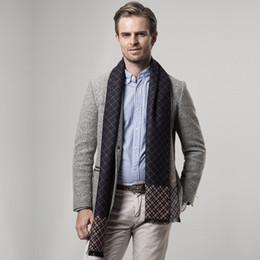 Wholesale Warmest Blanket Luxury - Designer Luxury Scarf For Men Brand Mens Cothes Cashmere Scarves Neck Warmer Blanket Fashion Brand Cothing Accessories Men Winter