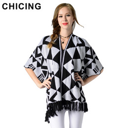 CHICING Mujeres Fashion Tassel Cardigan Sweater Nueva Llegada Otoño  Invierno Regular V-Neck Half Sleeve Camisetas de punto Ladies 1807003 0b438973c41c