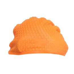 Wholesale particle design - Hot Summer Waterproof Particle Design Swimming Cap Excellent Elastic Silicone Ear Protection