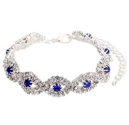 Wholesale rhinstone bracelet - DHL Women's Silver Crystal Bracelets Luxury fashion jewelry Rhinstone Wedding Bracelets Party Bridal Jewelry Zircon Charms Bangles