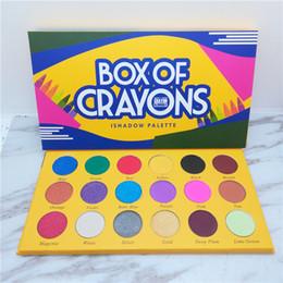 Caja de paleta online-Caja de lápices de colores paleta de maquillaje de sombra de ojos sombra de ojos de 18 colores crayola la caja de lápices de colores Shimmer Matte sombra de ojos a prueba de agua