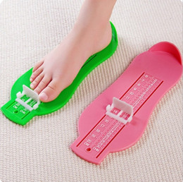 Wholesale Feet Measures - Fast ship DHL Children baby foot shoes size measure tool infant device ruler kit 8 colors good quality