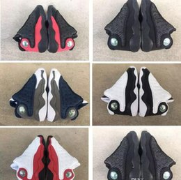 Wholesale New Designer cheap Baby Shoes s Black Cats shoe sneakers bred Flint Small Kids Basketball Shoes Infant boy Girl Trainers