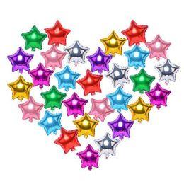 Palloncino autoadesivo a stagnola in alluminio con stagnola Palloncino a stella stellato in alluminio a cinque punte per la decorazione lin2874 da