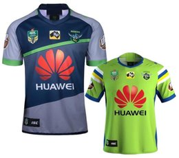Wholesale Raiders Shirt L - 2018 NRL Rugby JERSEY CANBERRA RAIDER S 18 19 Oakland canberra raider home away rugby league jersey football shirts size S-XXXL
