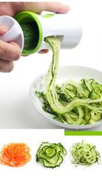 2019 spirale veggie slicer Kunststoff Spiralizer Cutter Reibe Küchenhelfer Handheld Compact Veggie Spiral Slicer Nudeln Zucchini Spaghetti Pasta Maker günstig spirale veggie slicer
