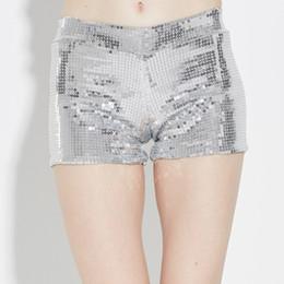 2018 Sexy Hot Shorts lentejuelas mujeres Sexy cintura alta fiesta club punk hip hop cantante bailador verano corto casual traje de cosplay desde fabricantes
