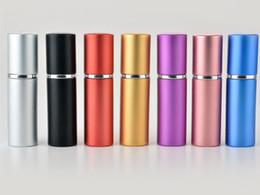 botella cuentagotas bomba Rebajas DHL libre 10 ml Mini Portátil Perfume Recargable Atomizador Botella de Spray de Colores Botellas de Perfume Vacías Perfume de moda