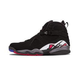 Wholesale Aqua Basketball Shoes - 2018 8 8s VIII men basketball shoes Aqua black purple Chrome Playoff red Three Peat 2013 RELEASE Athletic sports sneakers size 41-47 XZ90