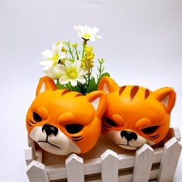Wholesale Tools Toys For Kids - Squishy Cute Creative Tiger Head Slow Rising Jumbo Kawaii Squishies Kids Educational Toys Gifts Decompression Tools For Adults 11 88bq Z