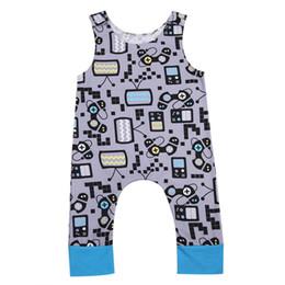 Wholesale Boy Machines - Sleeveless Rompers Recreational Machines Printed Flamingo O-neck Summer Cartoon Newborn Vest Baby Jumpsuits Baby Girls Clothing Sets 3-18M