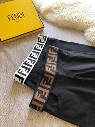 Giacche nere disegni online-Vita Leggings Marroni Bianchi Leggings Design di lusso Europa e America Pantaloni elasticizzati Logo del marchio Pantaloni neri Confezione