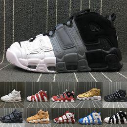 buy online e8e16 eb892 Air Mehr Uptempo 96 QS Olympic UNC Weiß Herren Basketballschuhe 3M Männer  Scottie Pippen Schuhe Designer Sneakers