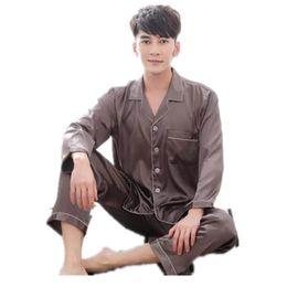Men s Stain Silk Pajama Set Pajamas Men Sleepwear Modern Style Silk  Nightgown Men Satin Soft Cozy For Sleeping 19a28b5c3