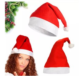 fb2452e5c3f hat ornaments Coupons - Red Santa Claus Hat Ultra Soft Plush Christmas  Cosplay Hats Christmas Decoration