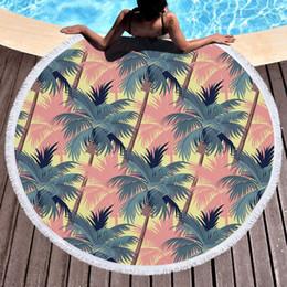 150 * 150cm 100% Coton Serviette De Plage Ronde Feuille Fleur Impression 3D Style Plage Châle De Bain Serviettes Hippie Yoga Tapis De Lancer pour Femme Serviette De Bain ? partir de fabricateur