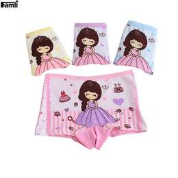 Wholesale character panties - Famli 4pcs Lot 2Y-8Y Baby Girl Princess Panties Children Fashion Character Cotton Underwear Kids Girl Short Briefs