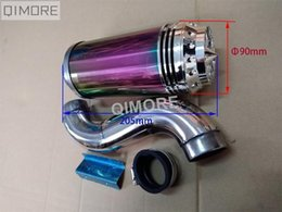 Wholesale body filters - Scooter GY6 50 GY6 125 GY6 150 performance air filter assembly   Air Cleaner   Air Box with LED light , Stainless Steel body