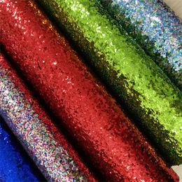 Wholesale vinyl glitter fabric - Free shipping 30x134cm synthetic glitter leather fabric vinyl BHYJD8015