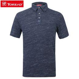 c3e22cb2b5444 TOREAD Camiseta deportiva POLO al aire libre de secado rápido transpirable  puro manga corta ropa de secado rápido masculino para senderismo TAJG81760  camisa ...