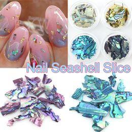 Wholesale Wholesale Seashells - Natural 8 Colors set Pearl Light Nail SeaShell Slices Particle Crushed Shell Manicure Set Nail Art Glitter Decoration Tools