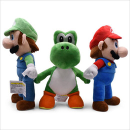 baby mario bros toys Coupons - Wholesale High Quality Large 3 Style 13'' 33CM Yoshi Mario Luigi Dolls Plush Toys Super Mario Bros Plush Doll Stuffed Toy For Baby Good Gift