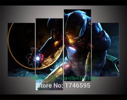 Wholesale More America - Captain America Civil War Iron Man,4 Pieces Home Decor HD Printed Modern Art Painting on Canvas (Unframed Framed)
