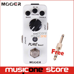 Wholesale Mooer Guitar Pedals - MOOER Micro Series Pure Boost Effect Guitar Pedal Compact Pedal True Bypass 2 band EQ with Gold Connector