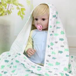 manta de manta de desenho animado Desconto Bebê Crianças Cobertor Crianças Swaddles Animais Dos Desenhos Animados Toalhas Toalhas De Bebê Fio De Algodão Toalhetes Do Bebê Toalhas De Banho Parisarc Robes Quilt BHB46