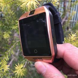 смартфон dhl shipping android Скидка Топ Популярные Q18 Bluetooth SmartWatch Поддержка SIM-карты NFC Соединение Здоровья Smartwatches Для Android-Смартфонов IOS Apple, Бесплатная Доставка DHL
