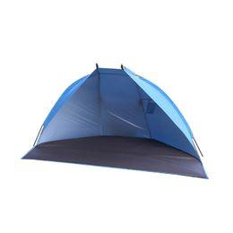 toldos de coches carpas Rebajas RUNACC Beach Tent Portable Sun Shade Anti-UV refugio al aire libre para la playa, viajes, camping y pesca azul