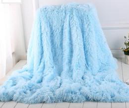 2019 roupa de pele Macio Longo Shaggy Cobertor Difuso Da Pele Do Falso Quente Elegante Aconchegante Fofo Jogue Cama Sofá Cobertor Multi Color roupa de pele barato