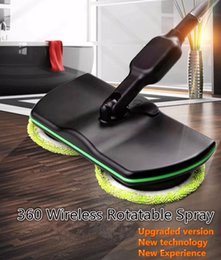 Wholesale floor brooms - 360 Rotating Mop Spin Mop Spray Foot switch Mop Floor Cleaning Easy Bucket Dust Magic Easy Microfiber Electric Broom