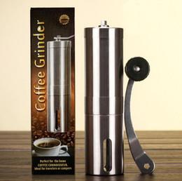 Wholesale beans grinder - Coffee Grinder Volume 40g Stainless Steel Handle Coffee Bean Grinder Manual Handmade Grinder Mill Kitchen Grinding Tool