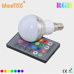 Wholesale ktv room decoration - New Year Lighting E14 9W RGB LED Lamp 110V 220V 16 Color Change RGB Bulb Light Lamp With Remote Control For Bar KTV Decoration