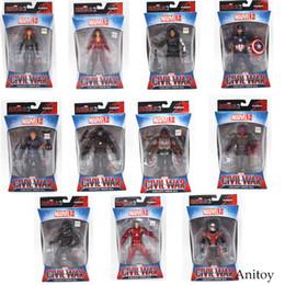 2019 qualidade de brinquedos de fazenda animal Viúva Vingadores Marvel Homem De Ferro Panther Hawkeye Capitão América Viúva Negra PVC Action Figure Collectible Modelo Brinquedos 17 cm KT3351